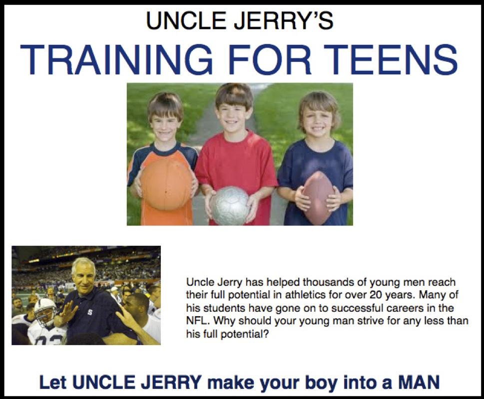 Jerry Sandusky fake ad